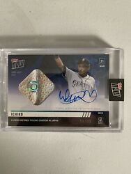 2019 Japan Topps Now Ichiro Game Used Base Relic Autograph Auto /49 7b Mlb