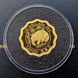 2012 Blessings Of Good Fortune Canada Lotus Shaped 150 .99999 Gold Coin
