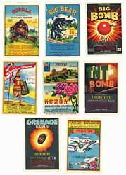 Firecracker Label Collection, Set Of 8 Labels, 358
