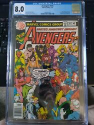 Avengers 181 Newsstand Cgc 8.0 White Pages Marvel 3/79 1st Scott Lang