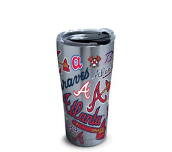 Mlb® Atlanta Braves™ All Over Stainless Steel With Hammer Lid