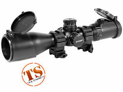 Leapers 3-12x44 Ao Swat Compact Accushot Rifle Scope Ez-tap