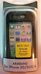 Vintage Apple Rocketfish Black Gray Armband Case Cover For Iphone 3g 3gs 4g