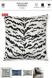 2 Williams Sonoma Home The House Of Scalamandre Tiger Pillow Cover 20 Square