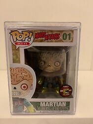 Funko Pop Metallic Martian 01 Sdcc Mars Attacks. Only 480 Made. With Hard Case