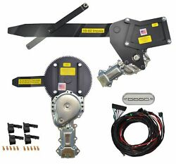 1959-1960 Convertible Front And Rear Power Window Kit W Ftfg Switches For Console