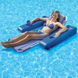 Floating Pool Lounge Single Adult Lounging Water Swimming Chair Float Summer Toy