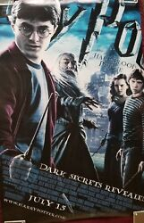 Daniel Radcliffe Signed Harry Potter And The Half Blood Poster Auto Bas Coa