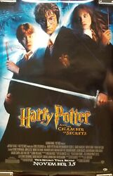 Daniel Radcliffe Signed Harry Potter And The Chamber Of Secrets Poster Bas Coa