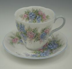 Royal Albert Bone China Blossom Time Wisteria Cup And Saucer Set