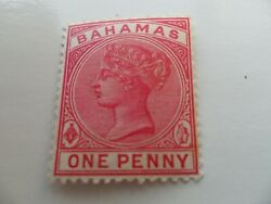 Qv Bahamas 1884 Stamp Wmk Ca 1d Pale Red Mh Looks Unmounted To Me