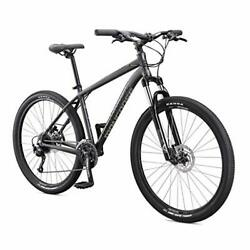 Mongoose Switchback Adult Mountain Bike, 8-21 Speeds, Small Frame|grey|expert