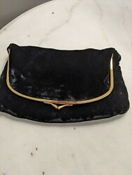 Woman#x27;s Ladies Handbag Purse Clutch.Color black. Lined with satin like material. $12.00