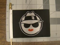 Lowrider Girl Car Truck 4x6 Inch Flag For Parade License Plate Topper Chola
