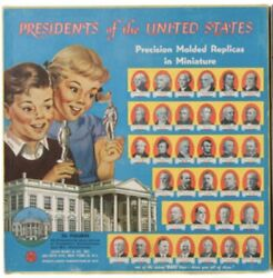 """1950s """"presidents Of The United States Marx Boxed Figures Set With 36 Figures"""