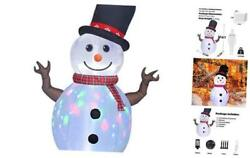 8ft Christmas Decorations Rotating Built Outdoor Yard 8ft Snowman Colored Led