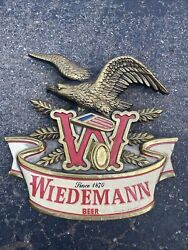 Vintage Wiedemann Beer Advertising Bar Sign With Eagle. 17andrdquox17andrdquo