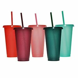 Tumbler with Straw and LidWater Bottle Iced Coffee Travel Mug CupReusable $27.63