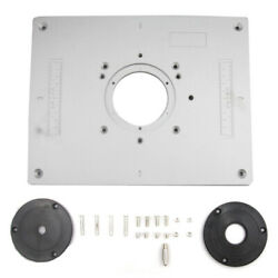 Router Table Insert Plate Aluminium Alloy Woodworking Benches Tool Flip Board