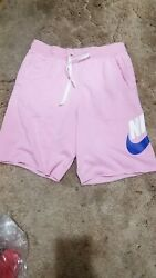 Nike Sportswear Nsw Alumni French Terry Pink Rise Shorts Menandrsquos Small Ar2375-629