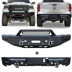 Vijay Front And Rear Bumper Fit 2019-2021 Ram 1500 W/winch Plate And Sensor Hole
