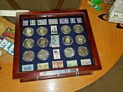 The Complete Collection Of Eisenhower Coins And Collectors Stamps 30 Coins Rare