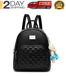 Women#x27;s Backpacks For Fashion Travel Nina Casual School Bag Black Leather Style $37.95