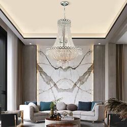 Crystal Led Chandelier Invisible Fan Ceiling Light Lamp Pendant Hanging Lamp Us
