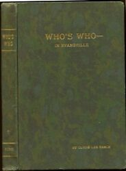 Who's Who In Evansville Indiana Directory 1932 Biographies Men Women History