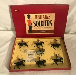 Britains Set 2067 Sovereigns Escort Lead Toy Soldiers With Box