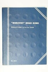 1916-1945 Mercury Dime Collection In Whitman Book Only Missing 4 Coins Silver