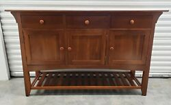 Ethan Allen American Impressions Buffet Sideboard 24-6426 In 224 Autumn Cherry