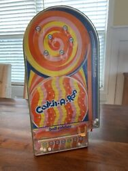 """Vintage Catch-a-roo Pinball Skill Game Wolverine Toy 155 Works Rare 21"""" Htf"""