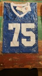 Deacon Jones 75 Los Angeles Rams Menand039s 1961-71 Mitchell And Ness Jersey - Blue