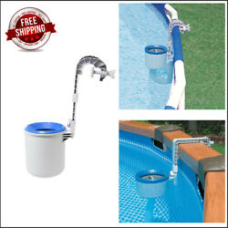 Pool Surface Skimmer Automatic Cleaning Basket Floating Leaves Debris New
