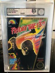 Friday The 13th Nes Nintendo Entertainment System, 1989. Vga 85 Nm+ Archival