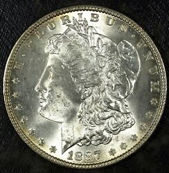 1887 P Morgan Silver Dollar ☆☆ Uncirculated ☆☆ Great For Sets 156