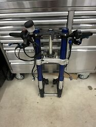17-20 Suzuki Gsxr 1000 R Front Forks Tubes Triple Trees Brembo Calipers