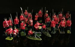 Vintage Lead Soldiers, Britain's, Johillco, Red Coats