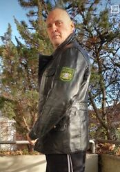 Vintage 1958 Police Leather Jacket Best Leather With Sign Coat Polizei