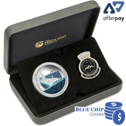 2014 1 Centenary Of Australian Submarine 1oz Silver Proof Coin And Badge Set
