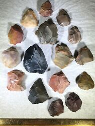 Columbia River Oregon Authentic Artifact 16 Piece Lot Arrowheads Scrapers Tools