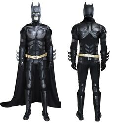 Batman Costume Cosplay Suit Bruce Wayne The Dark Knight For Adult Outfit New