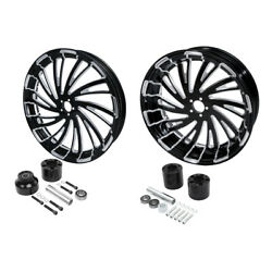 18and039and039 Front And Rear Wheel Rim W/ Disc Hub Fit For Harley Touring 2008-2021 Non Abs