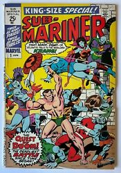 Sub-mariner 1 King-size Special Issue Namor Marvel 1971 Comics
