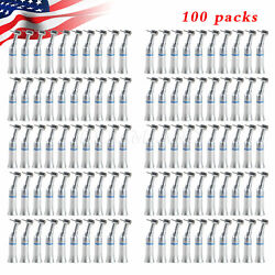 100 Nsk Style Dental Push Button Contra Angle Handpiece Fg1.6 Friction Grip Burs
