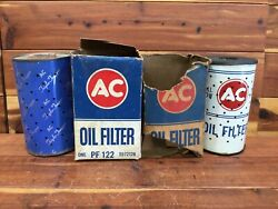 Nos / Ac Oil Filter Type Pf-131 Pf-122 - As-is For Display