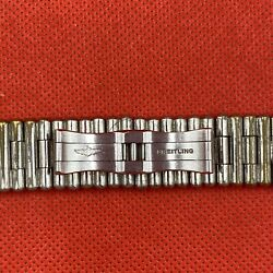Vintage Breitling Stainless Steel Rouleaux Bullet Bracelet Band For Watch
