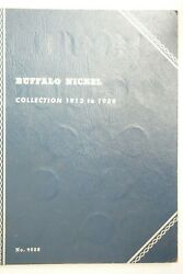 55 Buffalo Nickels From 1913-p To 1938-d 5c Coins Whitman Album Book Misssing 9