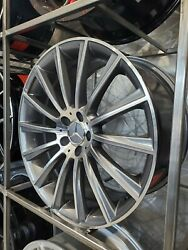Four 22 Staggered Gunmetal Machined Face Turbine Style Wheels For S Class W221